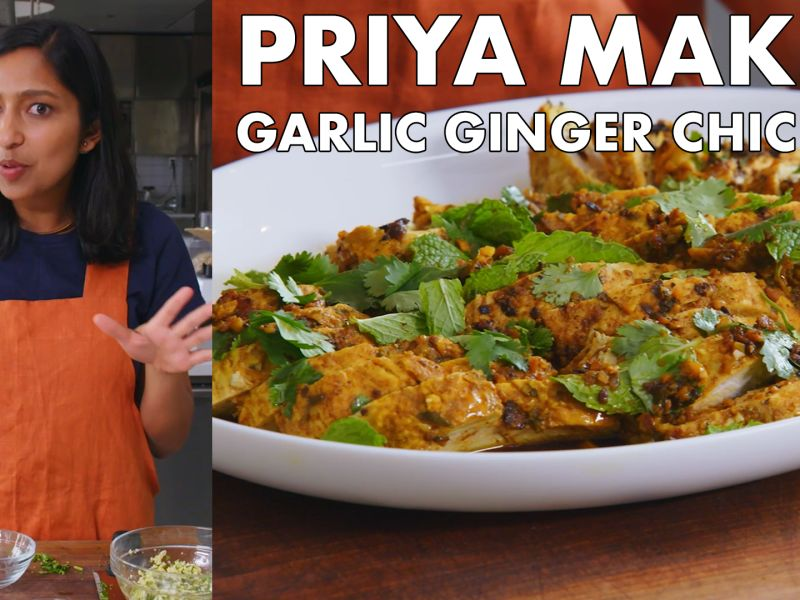 Priya Makes Garlic Ginger Chicken