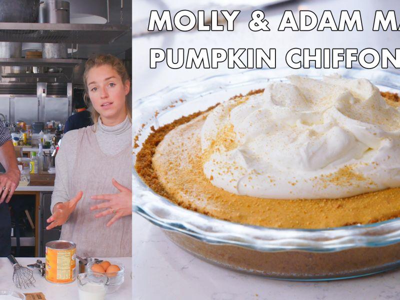 Molly and Adam Make Pumpkin Chiffon Pie