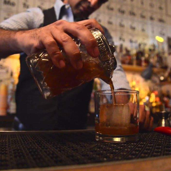 Fireside Old Fashioned at The Collins Bar