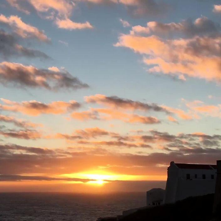 Timelapse Sunset at Cape Saint Vincent in Portugal