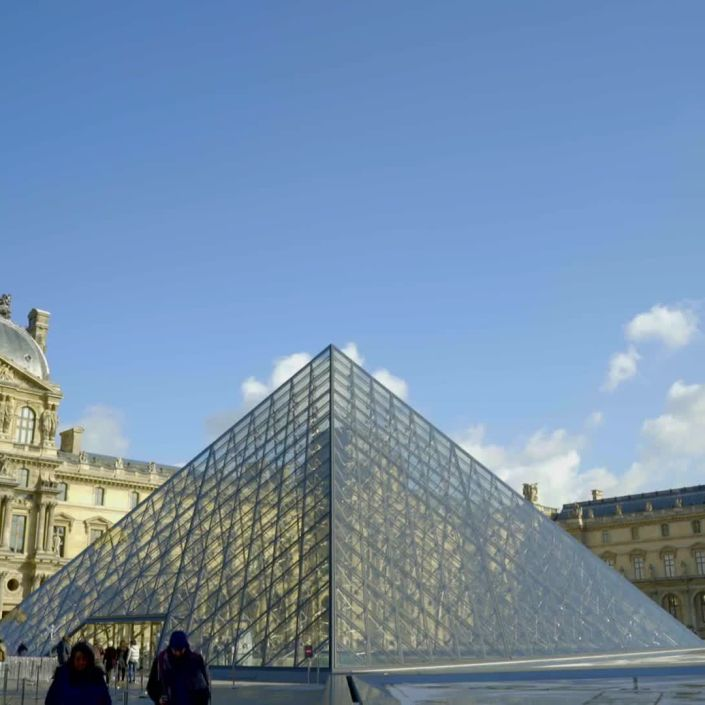 A View of the Louvre in Paris, France
