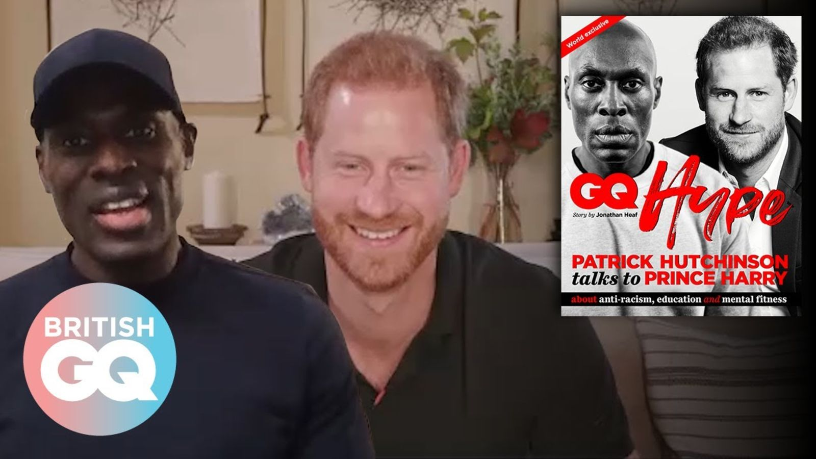 Prince Harry and Patrick Hutchinson discuss how to further anti-racism