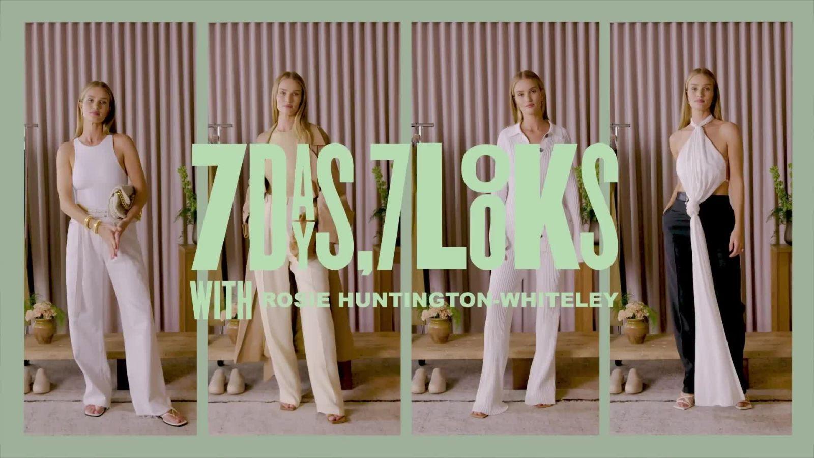 What Does Rosie Huntington-Whiteley Wear in a Week? A Plethora of Sleek, Minimalist Essentials