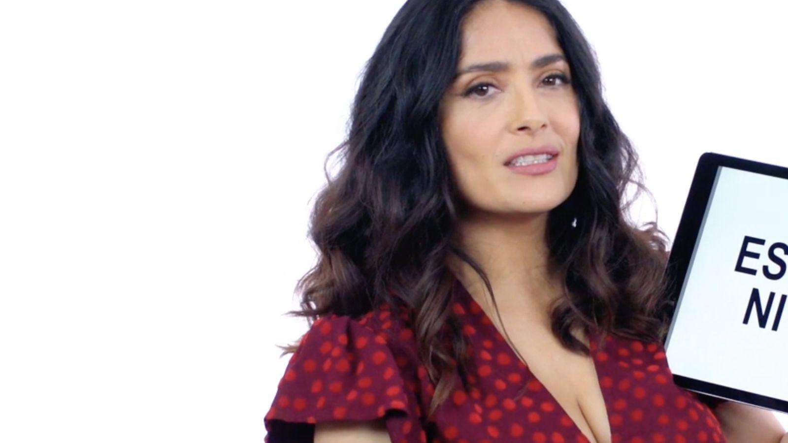 Salma Hayek te enseña a hablar como un mexicano