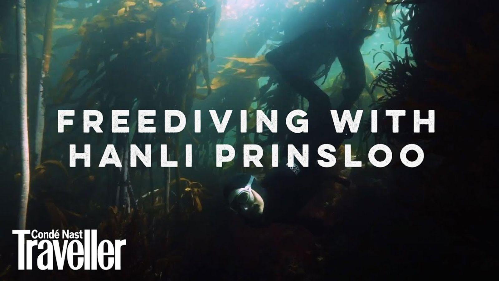 Free diving in the ocean with Hanli Prinsloo