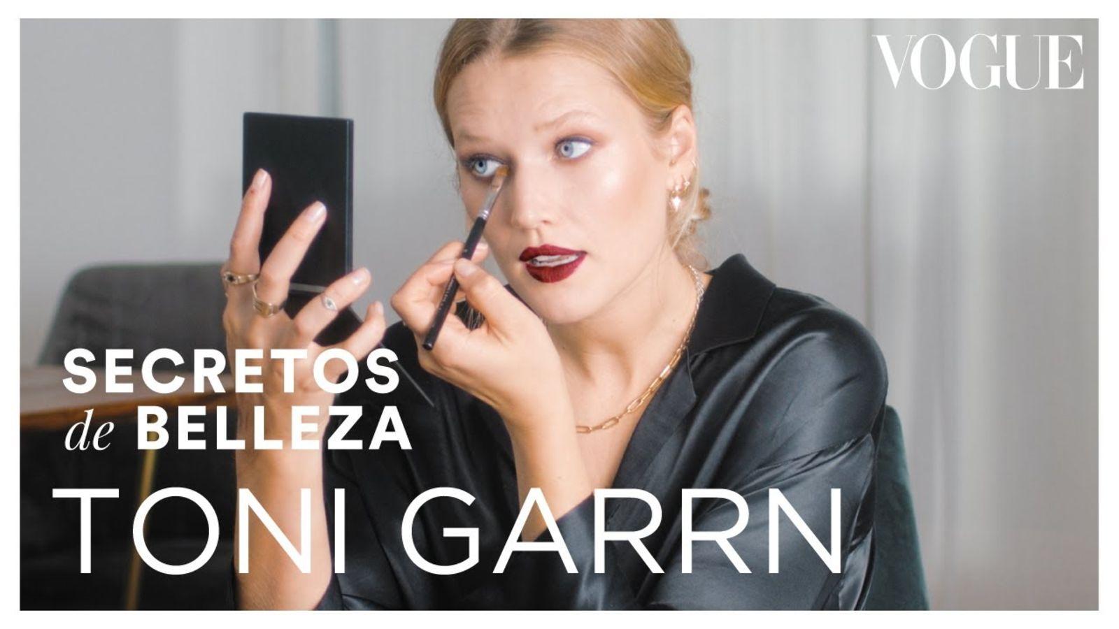 Toni Garrn nos muestra cómo se maquilla para salir a la alfombra roja