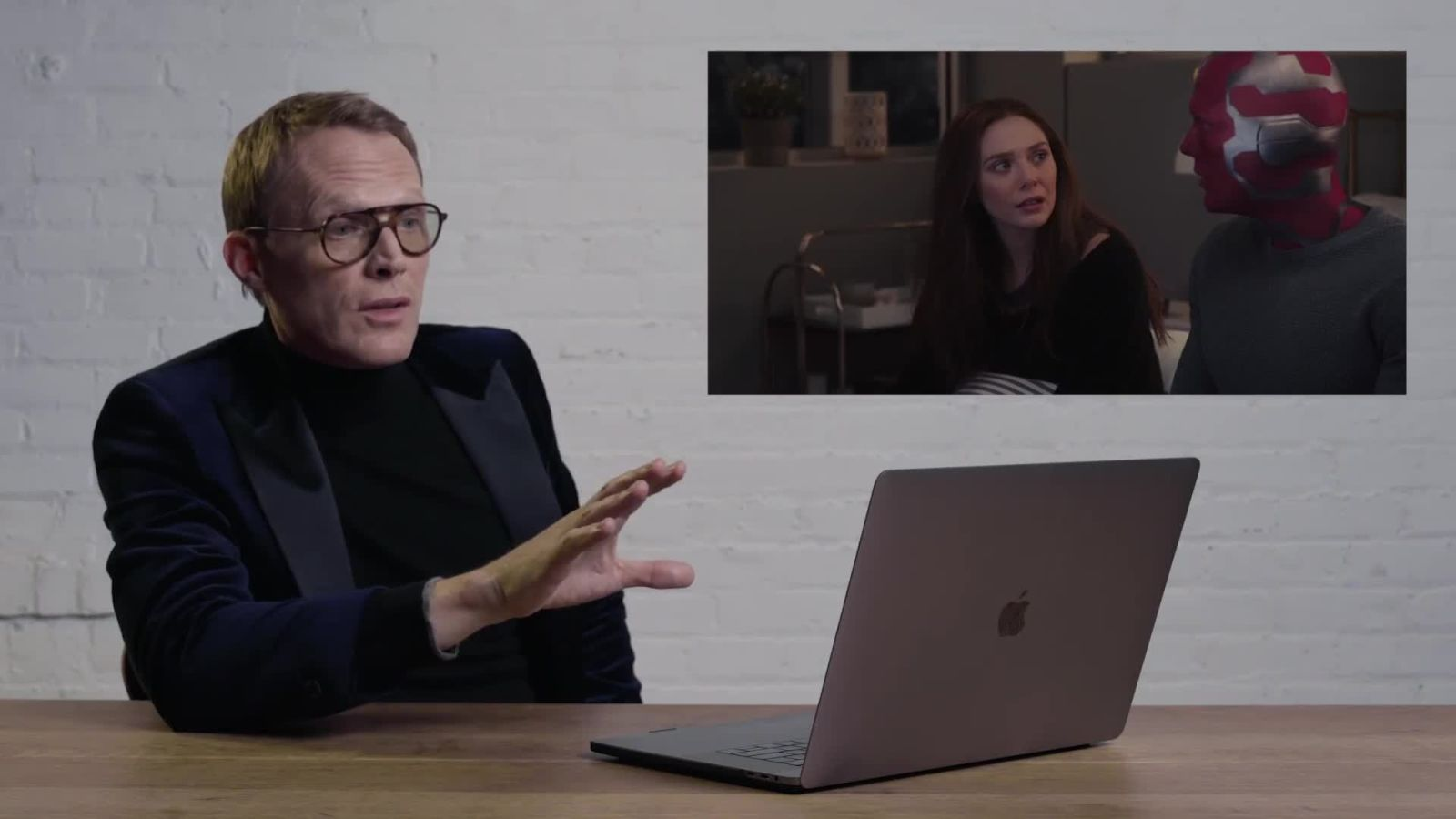 Paul Bettany Reacts to Marvel's WandaVision Scenes | Action Replay | British GQ