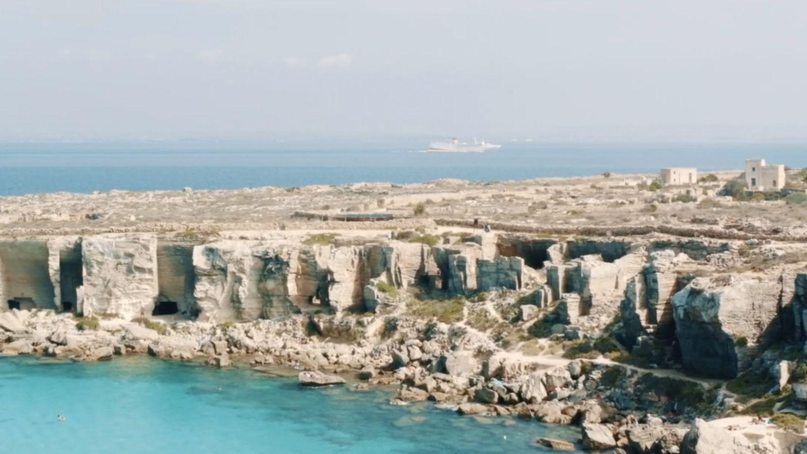 Una postal desde las islas Egadas