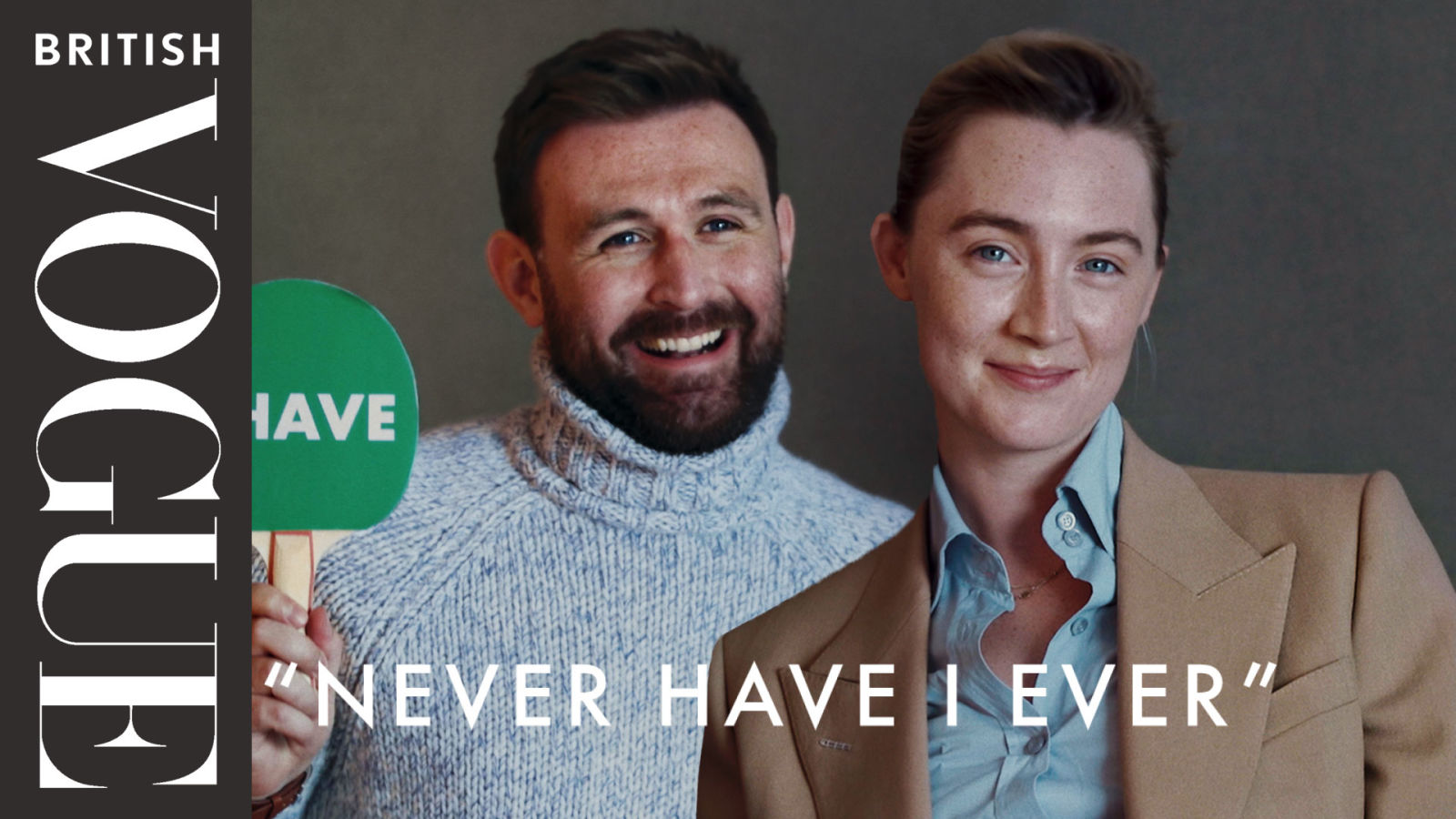 """Saoirse Ronan & James McArdle Play """"Never Have I Ever"""" 
