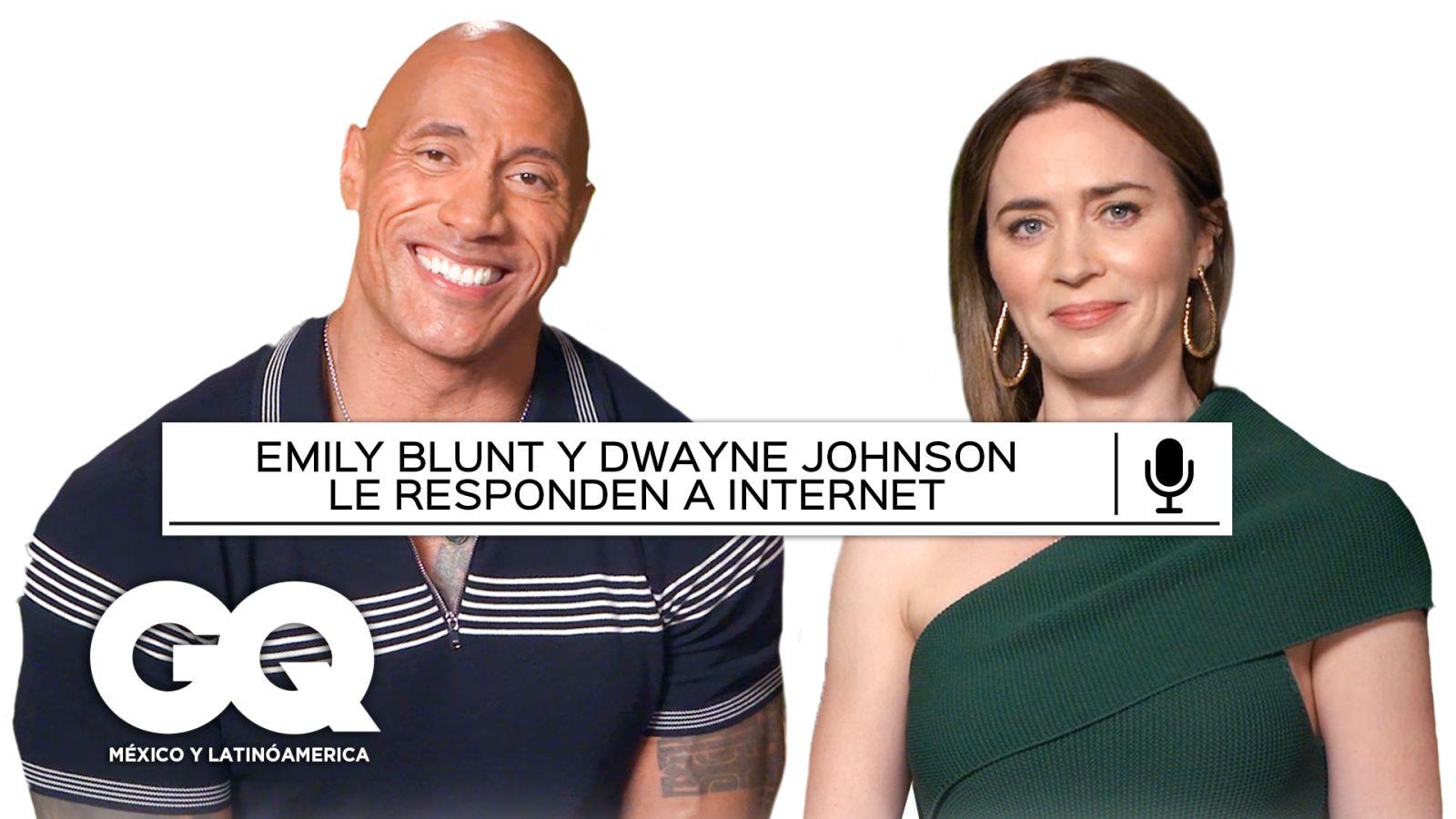 Emily Blunt y Dwayne Johnson responden las preguntas más populares de Google