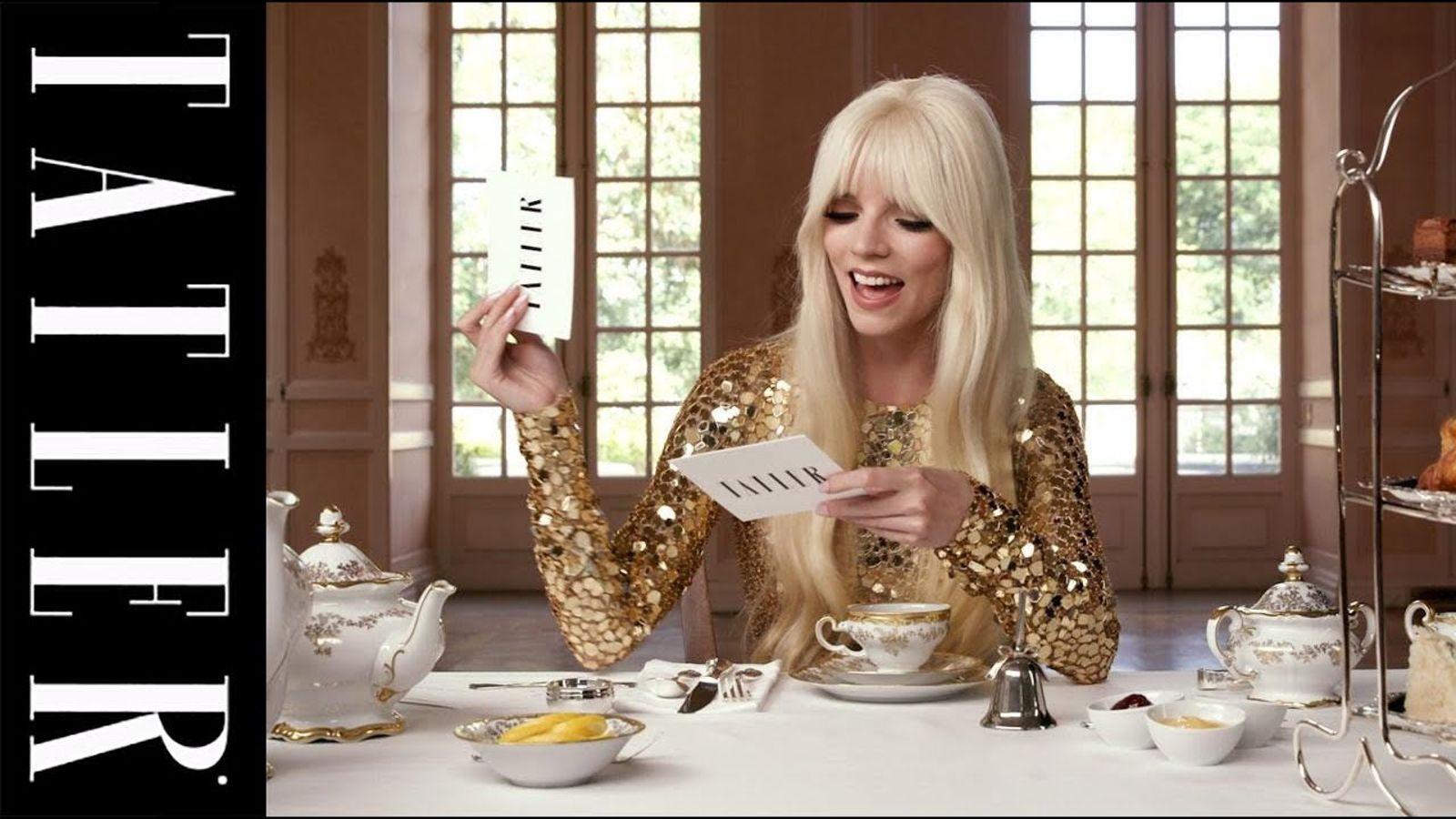 Anya Taylor-Joy takes on Tea With Tatler
