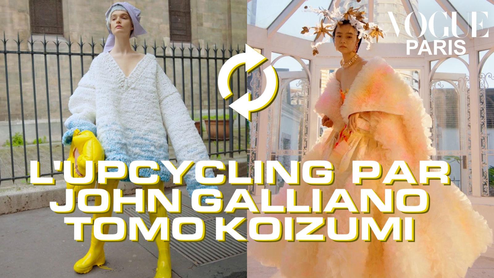 Leçon d'upcycling avec John Galliano et Tomo Koizumi