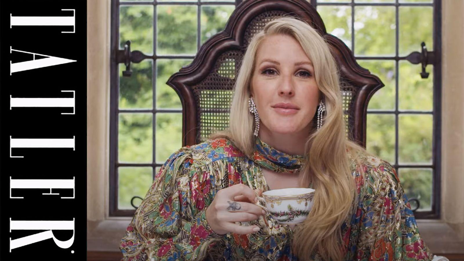 Ellie Goulding takes on Tea With Tatler