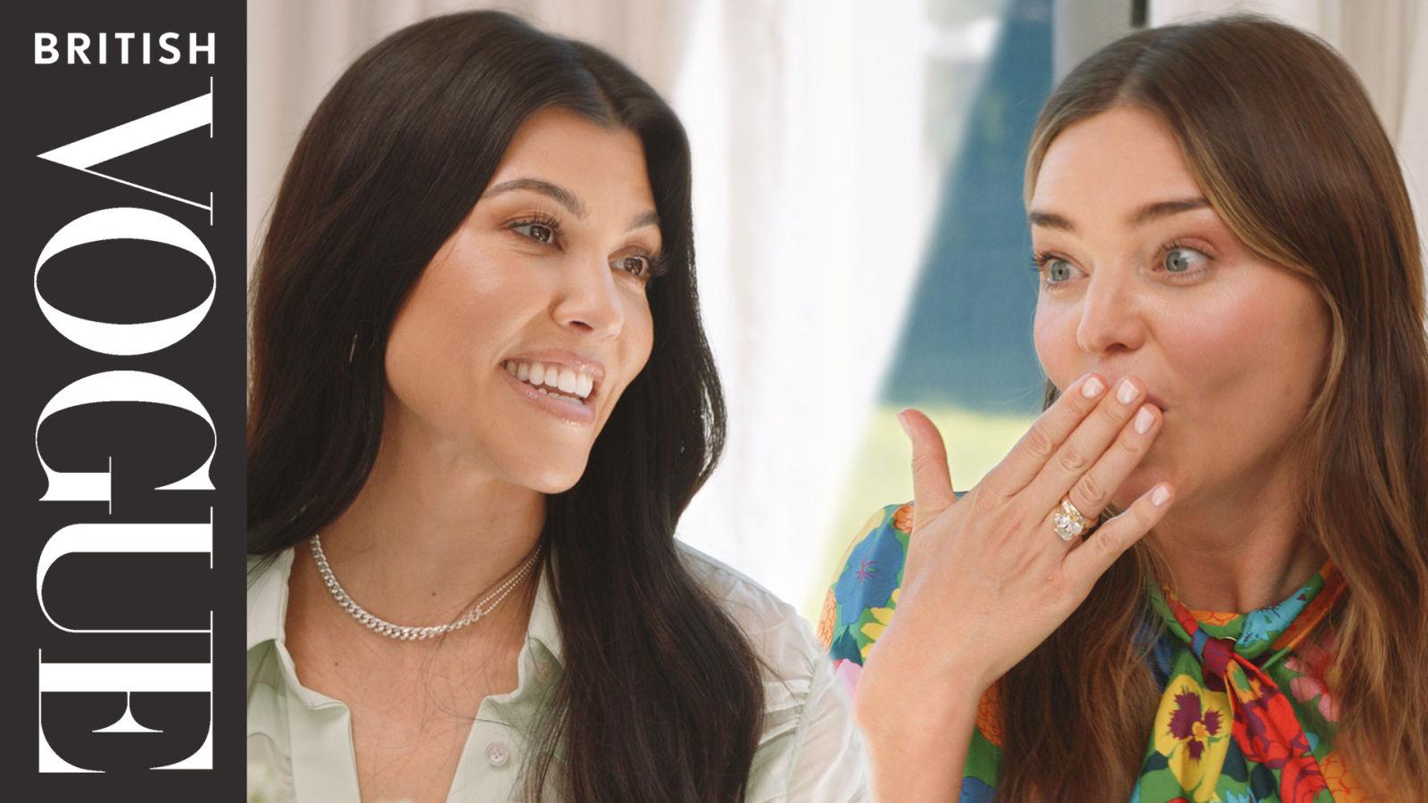 Miranda Kerr & Kourtney Kardashian Join Vogue For Dinner