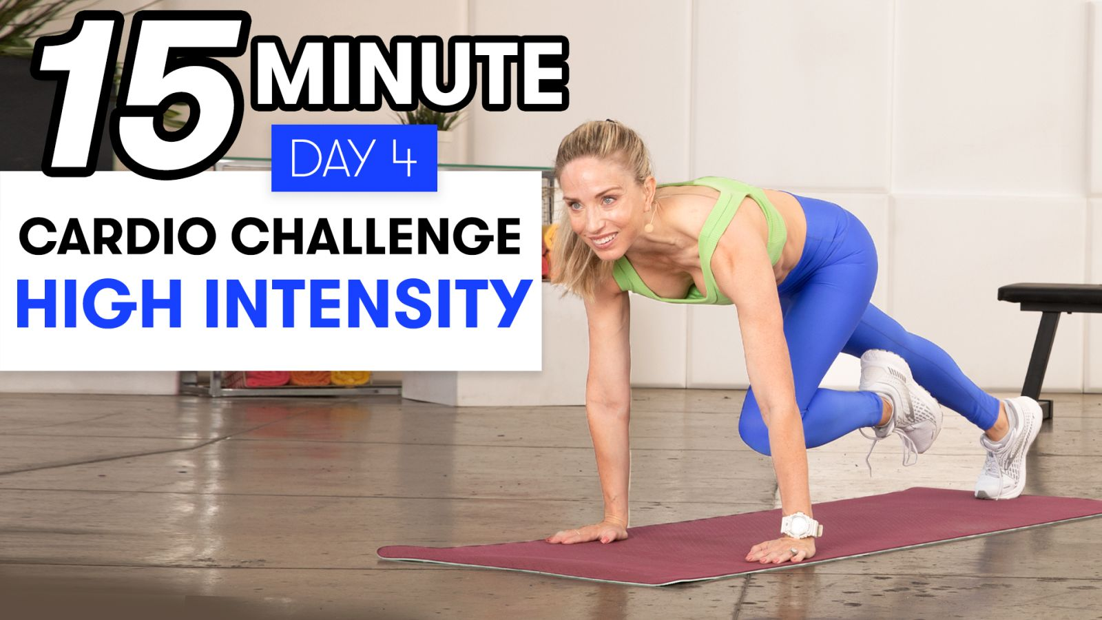 15-Minute High-Intensity Cardio Workout - Challenge Day 4
