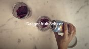 Plane Food: Dragonfruit Seltzer