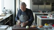 Jacques Pépin Dices an Onion