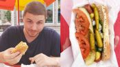 One Man Eats Every Iconic Chicago-Style Hot Dog in 12 Hours