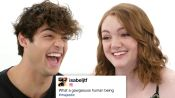 Noah Centineo & Shannon Purser Compete in a Compliment Battle