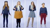 Women Sizes 0 Through 28 Try on the Same Sweater