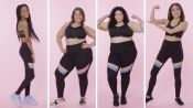Women Sizes 0 Through 28 Try on the Same Sports Bra