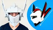 How to Build a Cardboard Robot Helmet