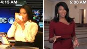 A News Anchor's Entire Routine, from Waking Up to Getting On Camera