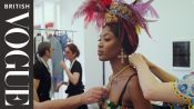 Behind The Scenes Of The Alta Moda Show With Naomi Campbell