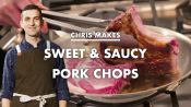 Chris Makes Sweet and Saucy Pork Chops