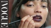 How To Apply Dark Vamp Lipstick