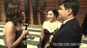 Kristen Anderson-Lopez and Robert Lopez at the 2014 V.F. Academy Awards Party