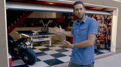 Why Zachary Levi's Man Cave Is Prepared Against Zombie Attack