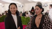 Lady Gaga and Alexander Wang at the Met Gala 2015