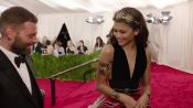 Zendaya and Fausto Puglisi at the Met Gala 2015