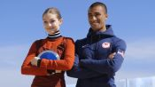 Gigi Hadid and Olympian Ashton Eaton On Set With Vogue