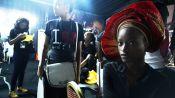 Nigerian Model Mayowa Nicholas Receives A Traditional Gele Head Wrap