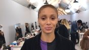 Backstage at Dior With Adwoa Aboah, Peter Philips, and Guido Palau
