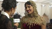 Priyanka Chopra on Her Intricate Beaded Headpiece