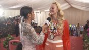 Elle Fanning on Her Malibu Barbie Met Gala Look