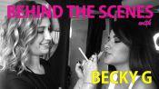 Inside Becky G's Trailer at the Teen Choice Awards