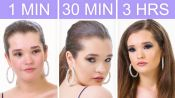 Getting Selena Gomez's Look in 1 Minute, 30 Minutes, and 3 Hours | Beauty Over Time