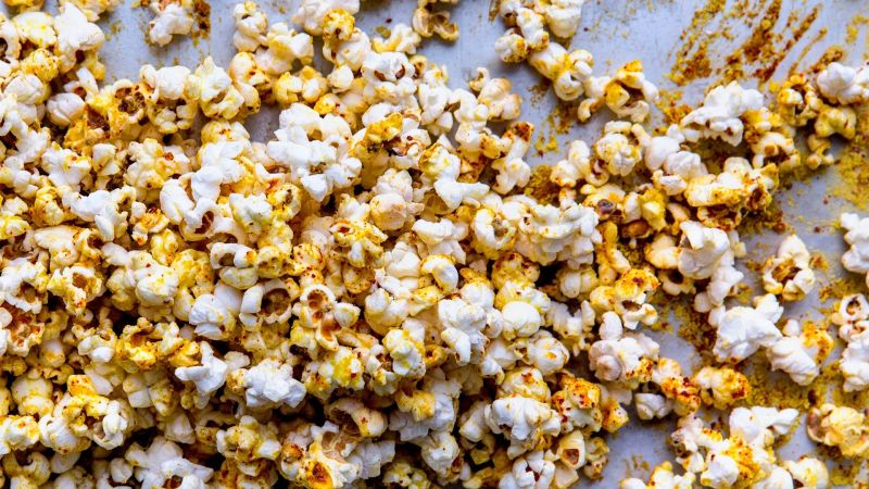 Popcorn with nutritional yeast and aleppo pepper recipe bon appetit forumfinder Image collections