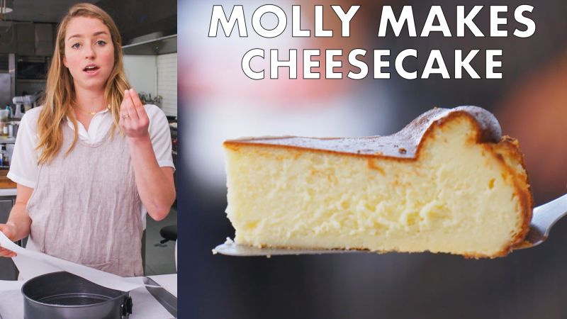 Watch From The Test Kitchen Molly Makes Burnished Basque Cheesecake Bon Appetit Video Cne Bonappetit Com Bon Appetit
