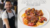 Short Ribs with Crispy Garlic and Chile Oil