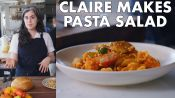 Claire Makes Pasta Salad with Romesco