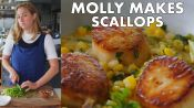 Molly Makes Scallops with Corn and Chorizo