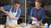Bobby Flay Challenges Amateur Cook to Keep Up with Him
