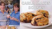 Carla and Ina Garten Make Chocolate-Pecan Scones