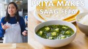 Priya Makes Saag Feta