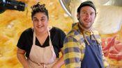 Brad Makes Focaccia Bread with Samin Nosrat